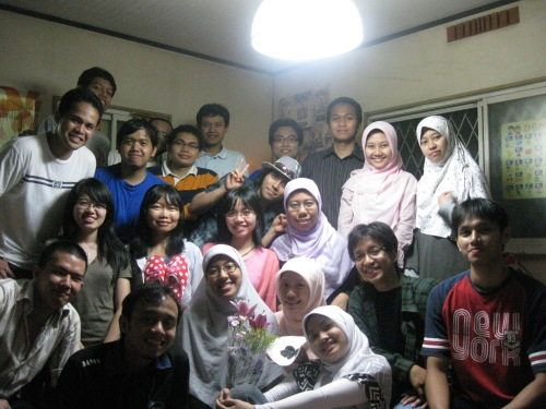 With Indonesian students in Tokodai